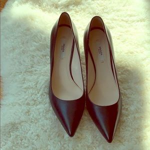 Prada black heels